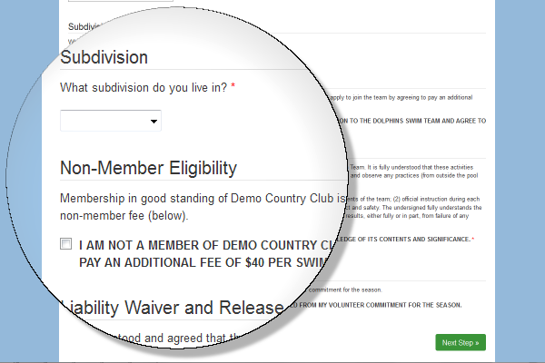 swim team registration