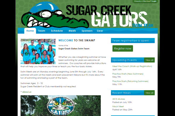 swim team management website
