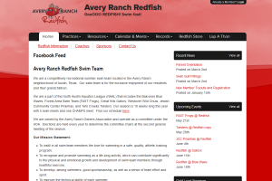 Avery Ranch Redfish Swim Team Website