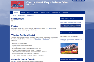 Cherry Creek Boys Swim Team website
