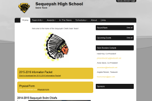 Sequoyah Swim Chiefs website