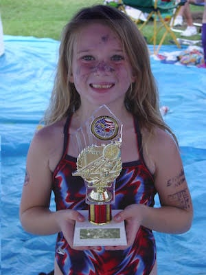 Elizabeth with Trophy Age 6