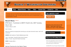 Booker T Washington Swim Team Website