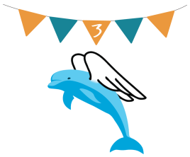 Flag 3 with Angel Dolphin